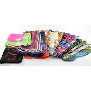 LOT of 15 Scarves - Silk & Polyester Variety